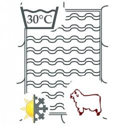 Bettdecke aus Biowolle  -...