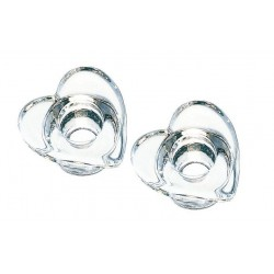 2 Kerzenhalter, herzförmig