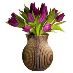 Grand vase en carton recyclé