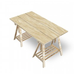 Desk with trestles - 3 Boards