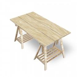 Schreibtisch auf Böcken - 3...