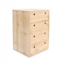 Caisson 4 tiroirs en pin...