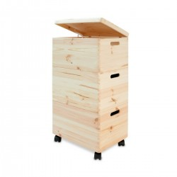 3 stackable boxes on wheels
