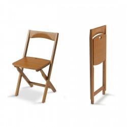 2 chaises en bois massif