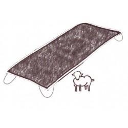 Mattress pad with visible...