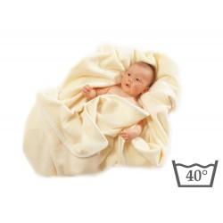 Babydecke aus Merinowolle -...