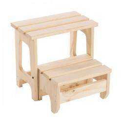 Step stool in massive pine...