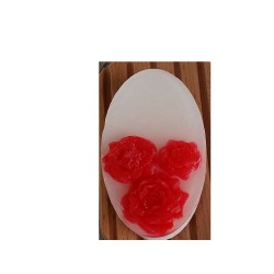 Oval soap - Red Roses