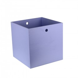 Caisse bois - bleue